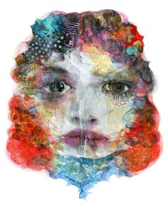 "Saatchi Online Artist: Takahiro Kimura; Assemblage / Collage, Mixed Media ""GIRL"""