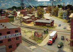 Part of the model railroad below Davison Hall!