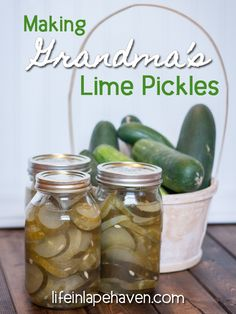 How to make lime pickles. Making Grandma's Lime Pickles from my great-grandma's recipe. Cucumbers and pickles