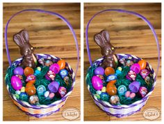 Happy Easter! This is our idea of a perfect grown-up Easter basket! Can you spot all the differences between the two photos?