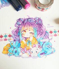 Manga Drawing Fanart for by Hayokine - Anime Drawings Sketches, Anime Sketch, Kawaii Drawings, Manga Drawing, Cartoon Drawings, Manga Art, Cute Drawings, Dibujos Anime Chibi, Cute Anime Chibi