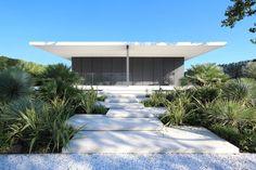 Jesolo Lido Beach Villa by JMA Concept Architecture, Residential Architecture, Architecture Design, Landscape Architecture, Lido Beach, Beach Villa, Sunken Patio, Beachfront Property, Weekend House