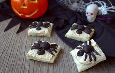 Antipasti ragno di Halloween La festa di Halloween, tipica festa americana, ormai viene festeggiata anche nel nostro paese, per i bimbi è una gioia potersi.