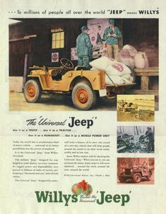 Willys Jeep Ad, 1945