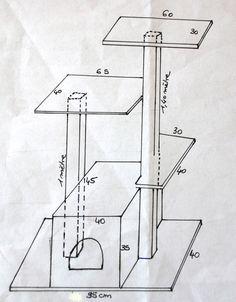 Ce qu'il vous faut : 1 poutre de 8 cm de côté. Découper la poutre à1m40 pour réaliser les deux poteaux. 1 étagère en pin de 40 cm de profondeur. Découper une planche de 95 cm et garder l&rsq…
