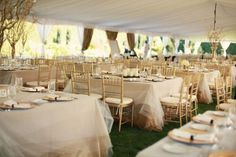 15 layers of tulle overlay in 3 different shades covering a gold table cloth
