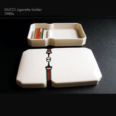 80s GUCCI cigarette caddy incense holder match by GreatGuyGifts, $240.00