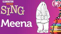 Personagens do filme Sing - Colorir a Meena