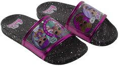 L Surprise! Girl's Sandal, Mix Match Baby Cat Merbaby Super BB Crystal Queen Cosmic Queen and Queen Bee Slide Sandal, Black Pink, Girls Size 10 to Ages 4 to 10 >>> Be sure to check out this awesome product. (This is an affiliate link) Girls Dress Shoes, Girls Heels, Girls Sandals, Girls Dresses, Baby Doll Accessories, Comfortable Heels, Lol Dolls, Baby Cats, On Shoes