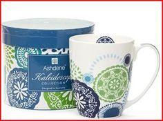 Ashdene - Kaleidoscope Blue Mug Gift Registry, Online Shopping Stores, Mugs, Cool Stuff, Tableware, Tabletop, Gifts, Blue, Design