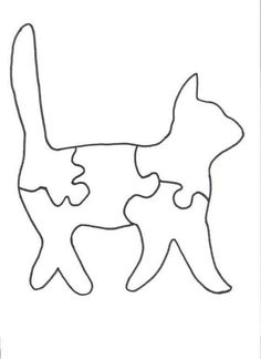 Tabby the Cat Puzzle Pattern Woodworking Kit For Kids, Woodworking Jigsaw, Woodworking Plans, Felt Crafts, Wood Crafts, Paper Crafts, Puzzle Crafts, Wood Projects For Kids, Scroll Saw Patterns Free