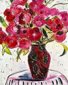 """Red Vase in Bloom 24""""x30"""".jpg (505×639)"""