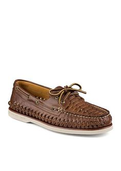 Taking the classic design to a new level of sophistication, this shoe features hand-sewn construction. With superior quality and exquisite luxury, this is the ultimate boat shoe. Sperrys, Moccasins, Boat Shoes, Footwear, Flats, Mens Fashion, Running, Brown, Casual