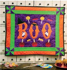 Quilt Inspiration: Free Pattern Day: Halloween Pumpkin Quilt Pattern, Halloween Quilts, Table Runners, Quilt Patterns, Free Pattern, Holiday, Christmas, Pillows, Sewing