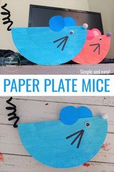 This fun recycled craft is great for preschoolers and key stage 1 children. Make these adorable paper plate mice with the simple andfun recycled animal craft idea for kids! #crittercraftsforkids #fallcraftsforkids #springcraftsforkids #creaturecraftsforkids