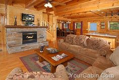 Of Windows Off The Living Room Luxury Vacation Cabins Smokies