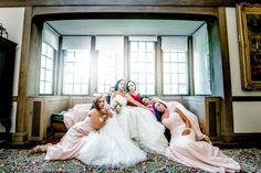 Portrait of Bride with Bridesmaids | Photography: Kesha Lambert. Read More:  http://www.insideweddings.com/biz/kesha-lambert-photography-new-rochelle/8959/