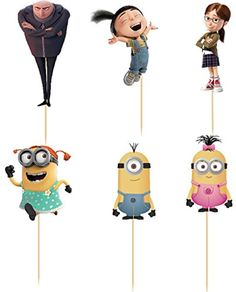 72pcs Despicable Me Gru minion Cupcake Topper Picks,birthday/wedding party decorations,kids evnent party favors,Party decoration -- Awesome products selected by Anna Churchill