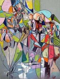 George-Condo-Cascading-Butlers-Drawing-Paintings-Skarstedt.jpg 379×500 pixels