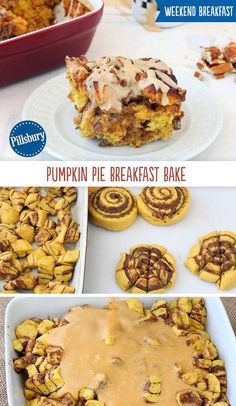 It doesn't get much better than pumpkin pie and cinnamon rolls all combined into one delicious breakfast! It's the perfect treat to surprise your family with during the holiday season and those special weekend mornings. What's For Breakfast, Breakfast Dishes, Breakfast Recipes, Dessert Recipes, Morning Breakfast, Christmas Breakfast, Pumpkin Breakfast, Kraft Recipes, Muffin Recipes