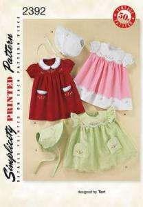 Baberos Simplicity Sewing Pattern ~ 8304 Bebés Niño Leggings Top vestido banda XXS-L