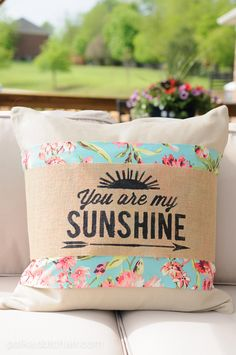 You are my sunshine template Summer Pillow Sleeves by Melissa Mortenson of polkadotchair.com