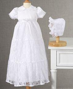 Lauren Madison Baby Dress, Baby Girls Lace Tiered Christening Dress - Kids Baby Girl (0-24 months) - Macy's