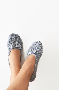 What color do you like ribbon , Grey Healthy Booties Home slippers by NesrinArt on Etsy https://www.etsy.com/listing/161046946/what-color-do-you-like-ribbon-grey