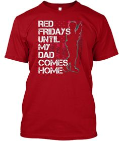 Red Military Shirt Red Fridays For Tee Deep Red T-Shirt Front f490b1861