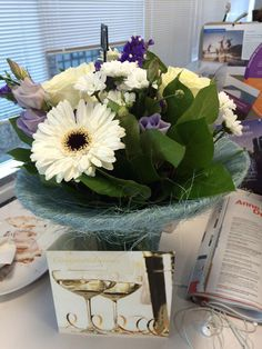 Lovely surprise coming back from lunch! Thanks so much @ThePurpleAgency really kind!