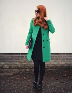 love the clean cut of the coat! Oh, and the color :)