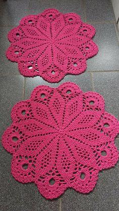 Flower crochet doilies, Crochet placemats, Cotton beige doilies, Thanksgiving gift idea - Her Crochet Free Crochet Doily Patterns, Crochet Coaster Pattern, Crochet Tablecloth, Crochet Motif, Hand Crochet, Knit Crochet, Free Pattern, Crochet Stone, Love Crochet