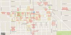 DePaul Judgmental Map: http://theblacksheeponline.com/depaul/a-judgmental-map-of-depaul-lincoln-park-campus