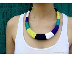 Statement necklace - colorblock necklace - ethnic necklace - african necklace