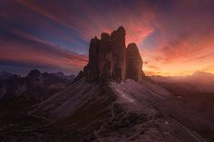 Sunset at an iconic location in the Dolomites of Tre Cime di Lavaredo Province of Belluno Italy by Albert Dros [1600 x 1067] #reddit