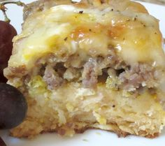 Weekend Biscuit Egg Casserole. Serve this breakfast casserole for company, and it'll be a hit every time. It takes little effort and can even be prepared (baked) and frozen days ahead of time. Just simply remove from freezer the night before serving and place in fridge to defrost overnight. Reheat prior to serving.