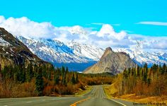 How does an interior Alaska shot along the Glenn Highway towards Anchorage sound? You can even see a sliver of the Matanuska Glacier in the valley too! - Mat-Su Valley, Alaska, Tom Pauser Photos