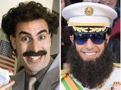 Sacha Baron Cohen in seinen Rollen als Borat (l-r), als General Aladeen und als österreichischer Mode-Reporter Bruno.
