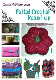 Felted Crochet Pattern Round Up from Jessie At Home