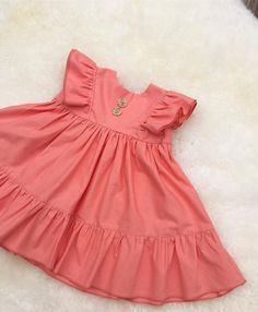 Hey, I found this really awesome Etsy listing at https://www.etsy.com/listing/519932768/coral-ruffle-dress-12m-summer-dress