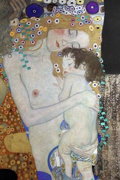 zeichnungen Mother Art Print featuring the painting Mother And Child by Gustav Klimt Gustav Klimt, Klimt Art, Klimt Tattoo, Mother And Child Painting, Mother Art, Modern Art Paintings, Tattoos For Kids, Naive Art, Figure Drawing