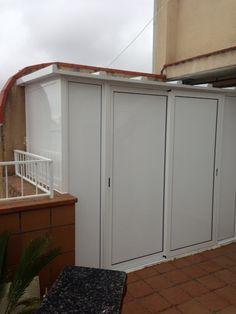 Armarios aluminio aluminio pinterest aluminio armario y cobertizo - Armario pvc exterior ...