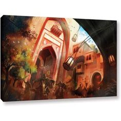 Luis Peres Old Times 1 inch Gallery-Wrapped Canvas, Size: 16 x 24, Brown