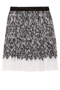 LACE DKNY Audrey Lace-Print Stretch-Georgette Skirt; net-a-porter.com