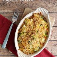 Parmesan & Onion Panko Crusted Vegetable Casserole Recipe