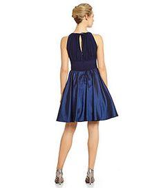 Jessica Howard Satin Keyhole Halter Dress