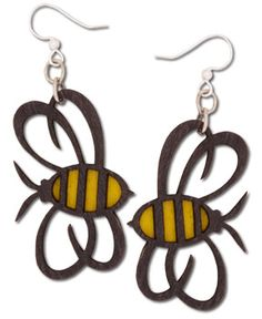 SoulFlower-NEW! Bumble Bee Earrings-$12.00 #bees