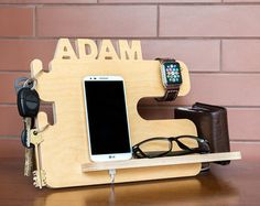 Personalized docking station Android iPhone от SinitinaWorkshop