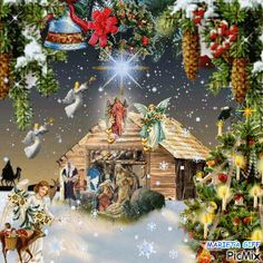 Gif Belief You are in the right place about GIF animados Here we offer you the most beautiful pictures about the GIF ideas you are looking for. When you examine the Gif Belief part of the picture you Merry Christmas Gif, Merry Christmas Pictures, Christmas Scenery, Christmas Jesus, Christmas Nativity Scene, Vintage Christmas Images, Christmas Art, Christmas Greetings, Xmas