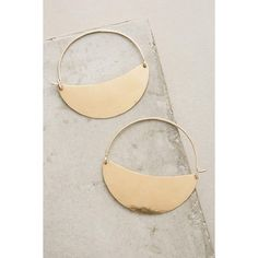 Lila Rice Brooklyn Hoops ($138) ❤ liked on Polyvore featuring jewelry, earrings, gold, handcrafted earrings, geometric earrings, yellow gold hoop earrings, hand crafted jewelry and handcrafted gold jewelry